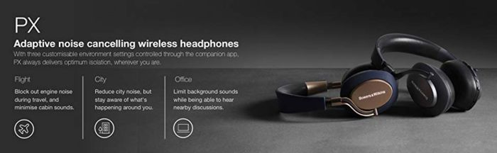 Amazon.com: Bowers & Wilkins PX Active Noise Cancelling Wireless Headphones Best-in-class Sound, Space Grey: Electronics