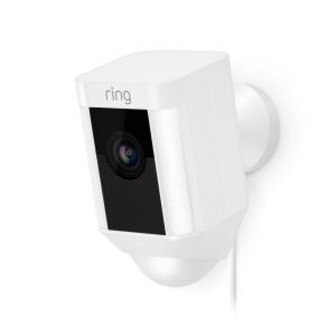 Ring Spotlight Cam Wired Outdoor Rectangle Security Camera, White-8SH1P7-WEN0 - The Home Depot