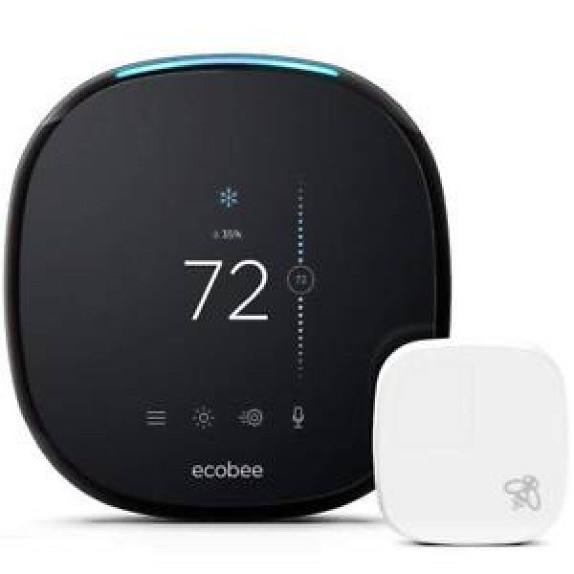 ecobee4 Voice-Enabled Smart Thermostat with Built-In Alexa - Black | eBay