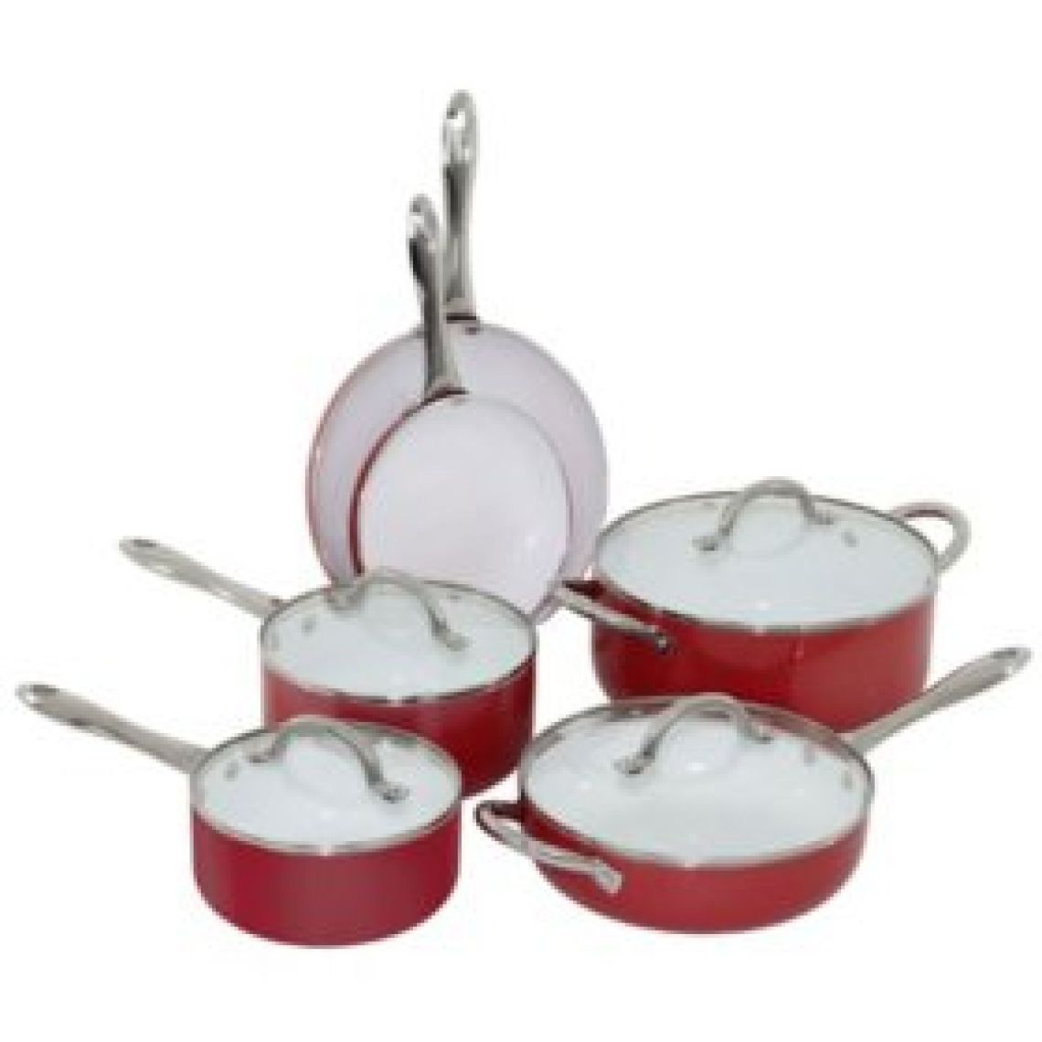 Oneida 10-Piece Aluminum Cookware Set (Various Colors) - Sam's Club