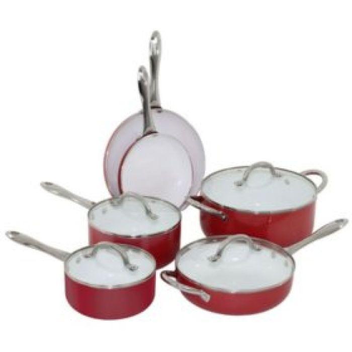 Oneida 10-Piece Aluminum Cookware Set (Various Colors) - Sam's Club