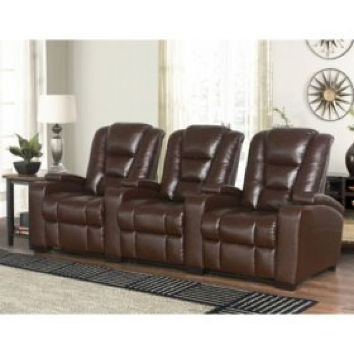 Mastro 3-Piece Leather Power Reclining Theatre Set - Sam's Club