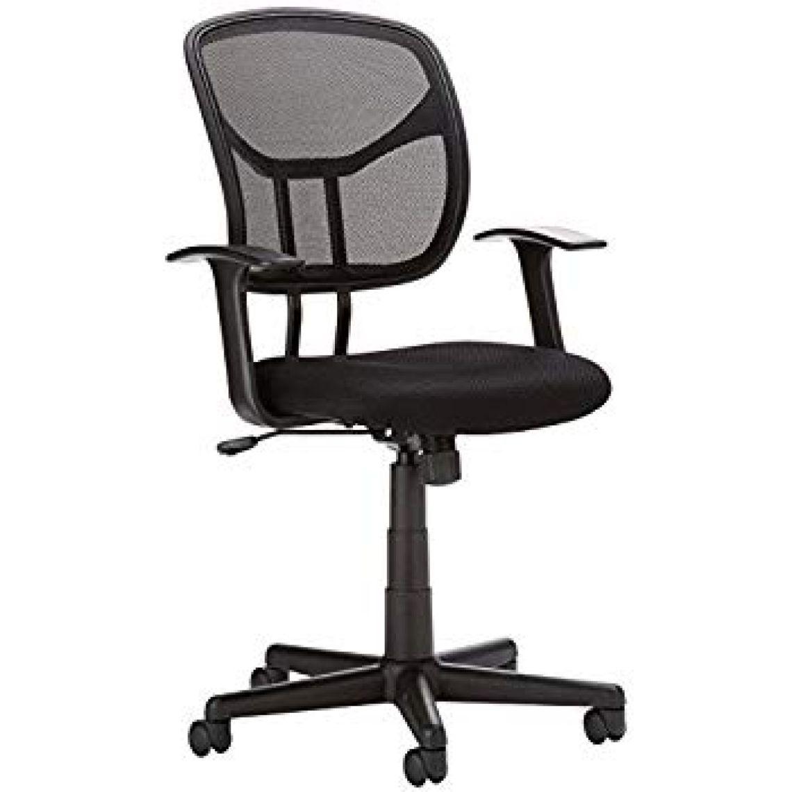 Amazon.com: AmazonBasics Mid-Back Black Mesh Chair: Kitchen & Dining