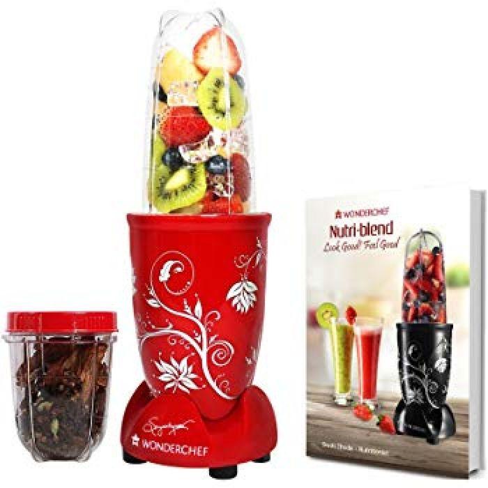 Buy Wonderchef Nutri-Blend 400 Watts Juicer Mixer Grinder (Red) Online at Low Prices in India - Amazon.in