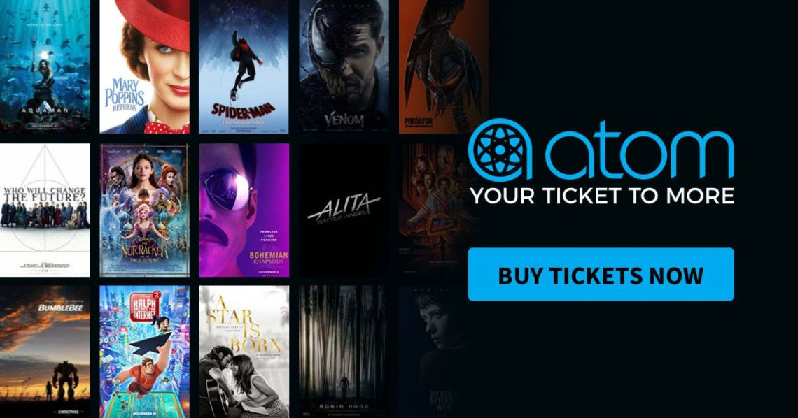 New Atom Tickets Users Can Get 50% Off Their First Movie Ticket | Atom Tickets, Your Ticket to More | Atom, Your Ticket to More