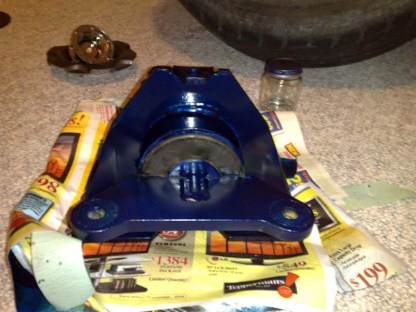 Sunfire Blue Polyurethane Engine Mount