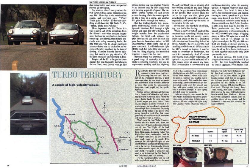Porsche 944 Turbo vs Porsche 911 Turbo 951 vs 930