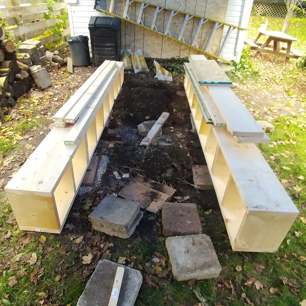 foundation for wood platform ramps for car