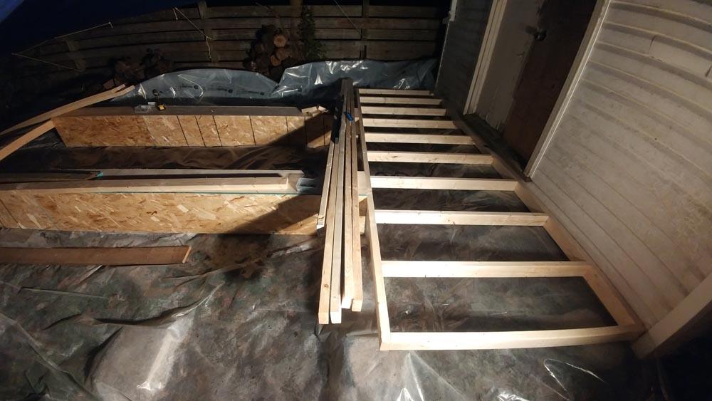 deck for budget garage