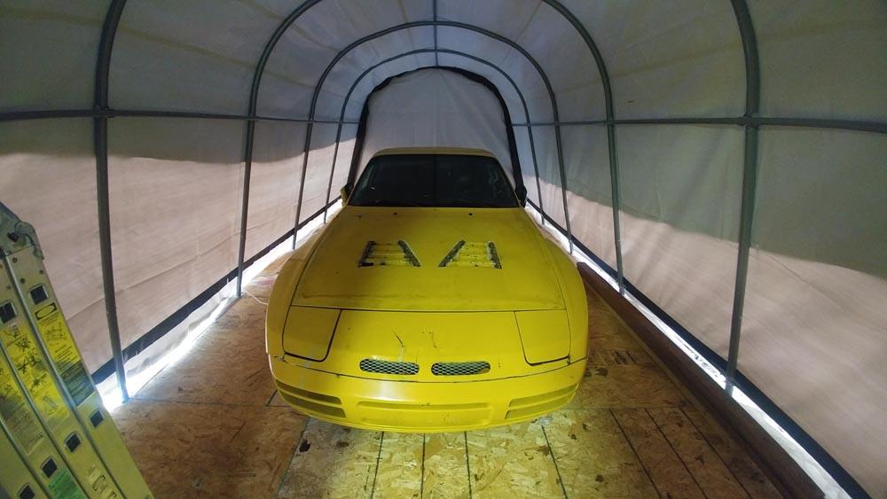 porsche 944 turbo in budget garage