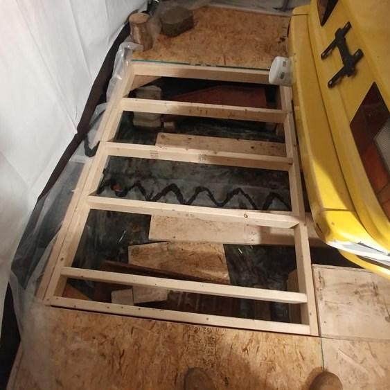 removable floor frame in budget garge