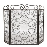 Scroll design Fire Screen