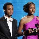 BET host Terrence Jenkins and Tiffany Greene