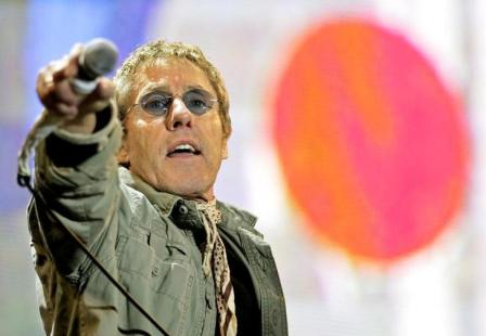 Roger Daltrey, during the Who's set at Glastonbury in 2007