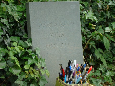 Author Douglas Adams—Highgate Cemetery