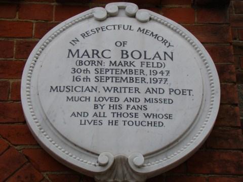 Marc Bolan—Golders Green