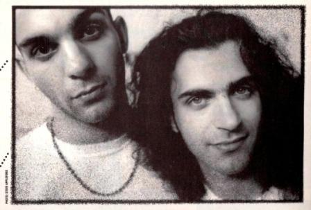 Ahmet and Dweezil Zappa, in 1993 (Photo: Steve Appleford, originally published in Strobe magazine)