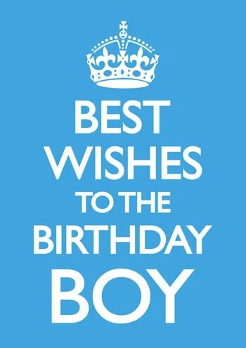 Best Wishes To The Birthday Boy Funny Birthday Card £2.50 ...