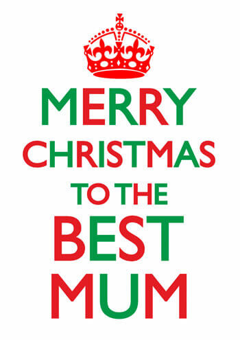Merry Christmas To The Best Mum Funny Christmas Card DMS