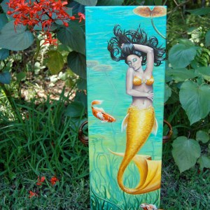 Koi Mermaid - Original Oil Painting