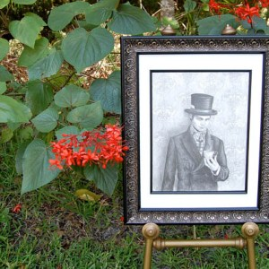 Framed Mad Hatter Original Pencil Drawing
