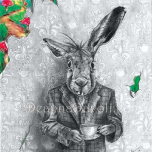 A photo of alice in wonderland art