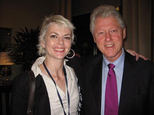 Deanna Zandt and Bill Clinton