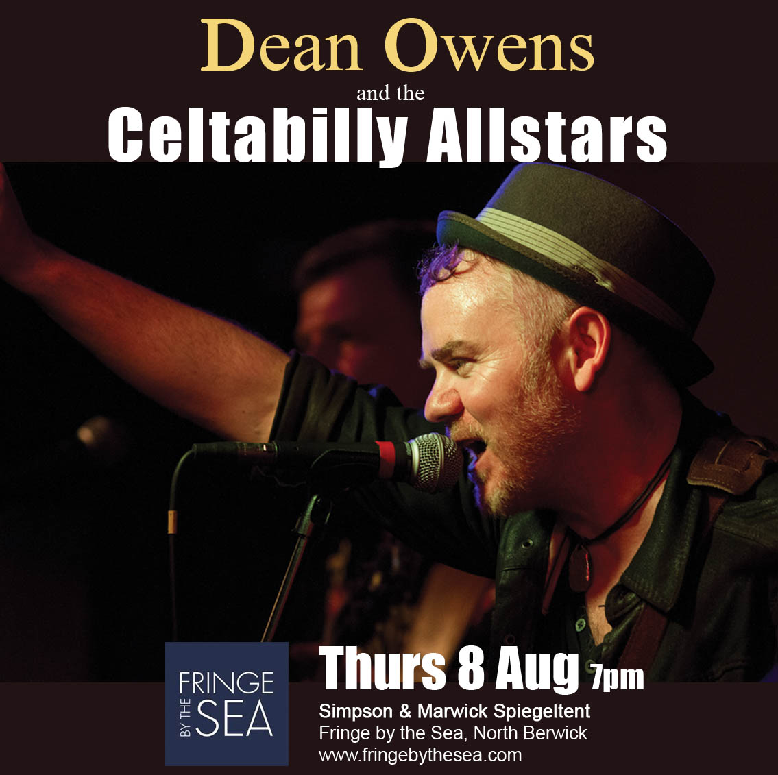 Flyer for Dean Owens and the Celtabilly Allstars at Fringe by the Sea, North Berwick