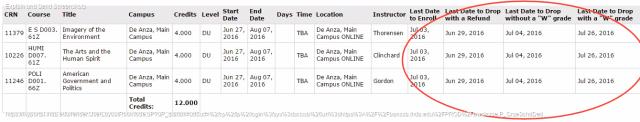 check summer schedule