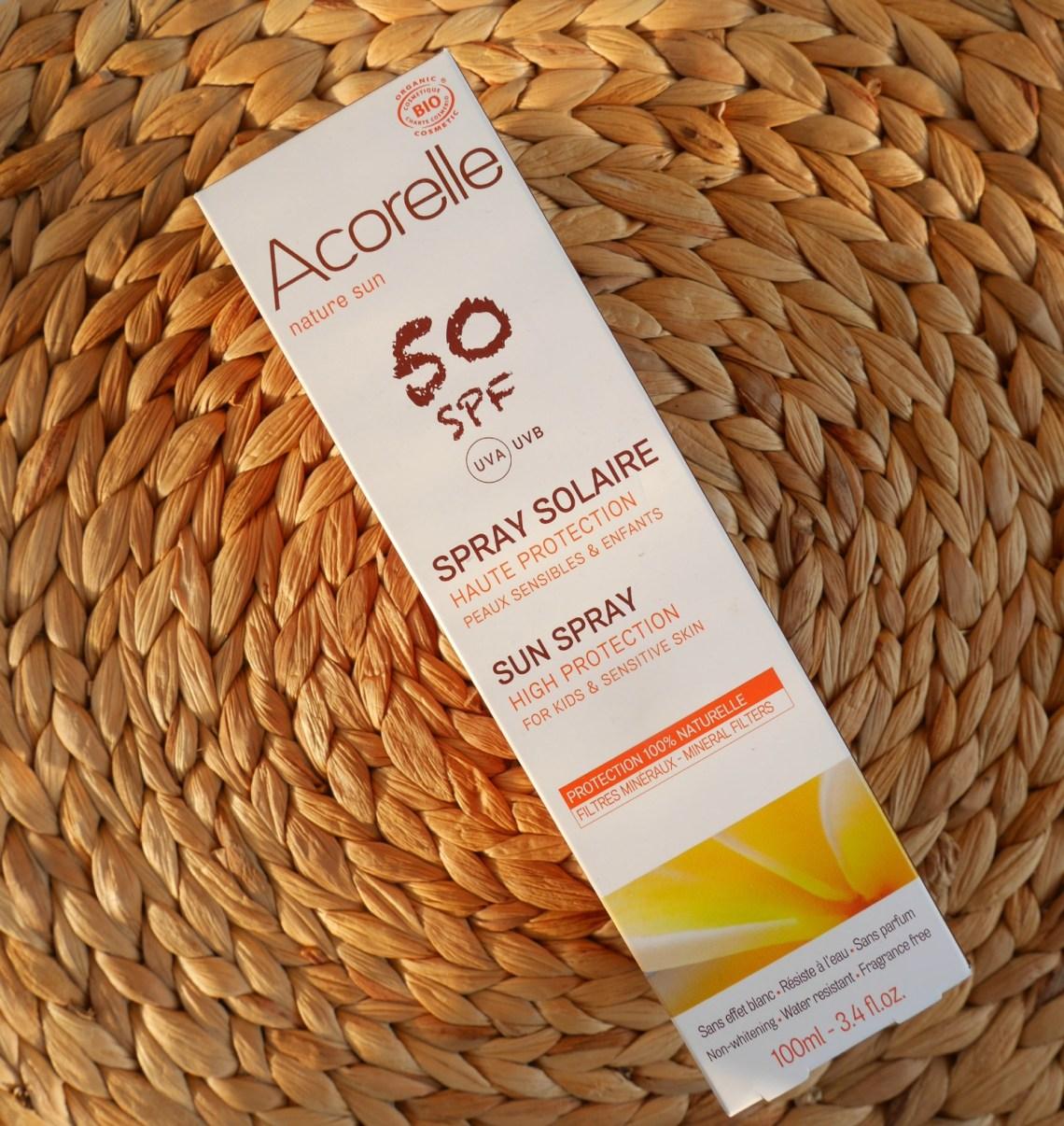 Acorelle sun spray