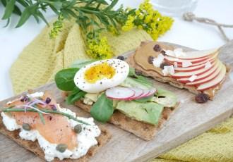 3 x gezond beleg op crackers