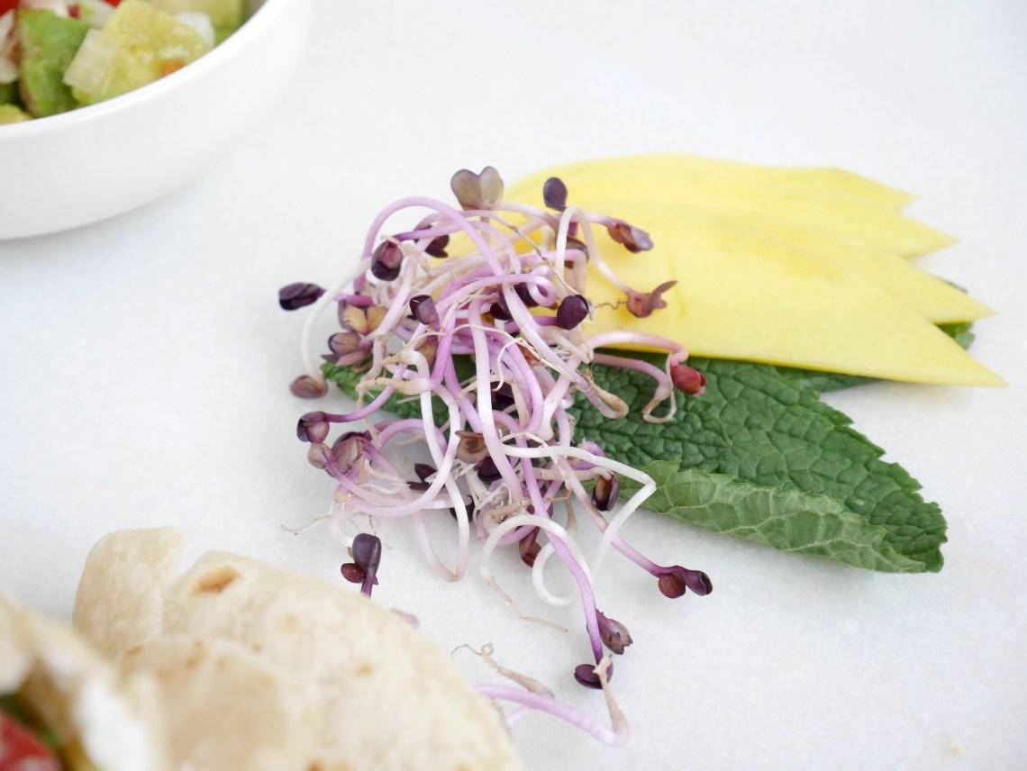 zomerse wrap met mango en avocado