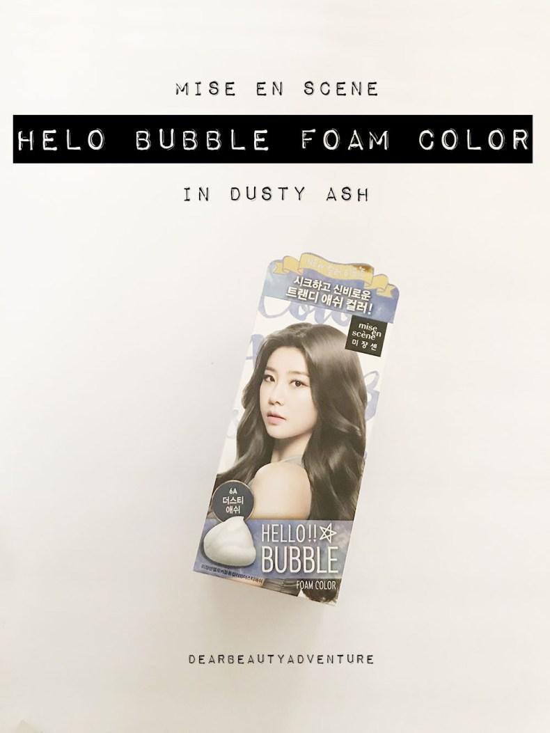 Mise En Scene Hello Bubble Foam Hair Color In Dusty Ash Dear