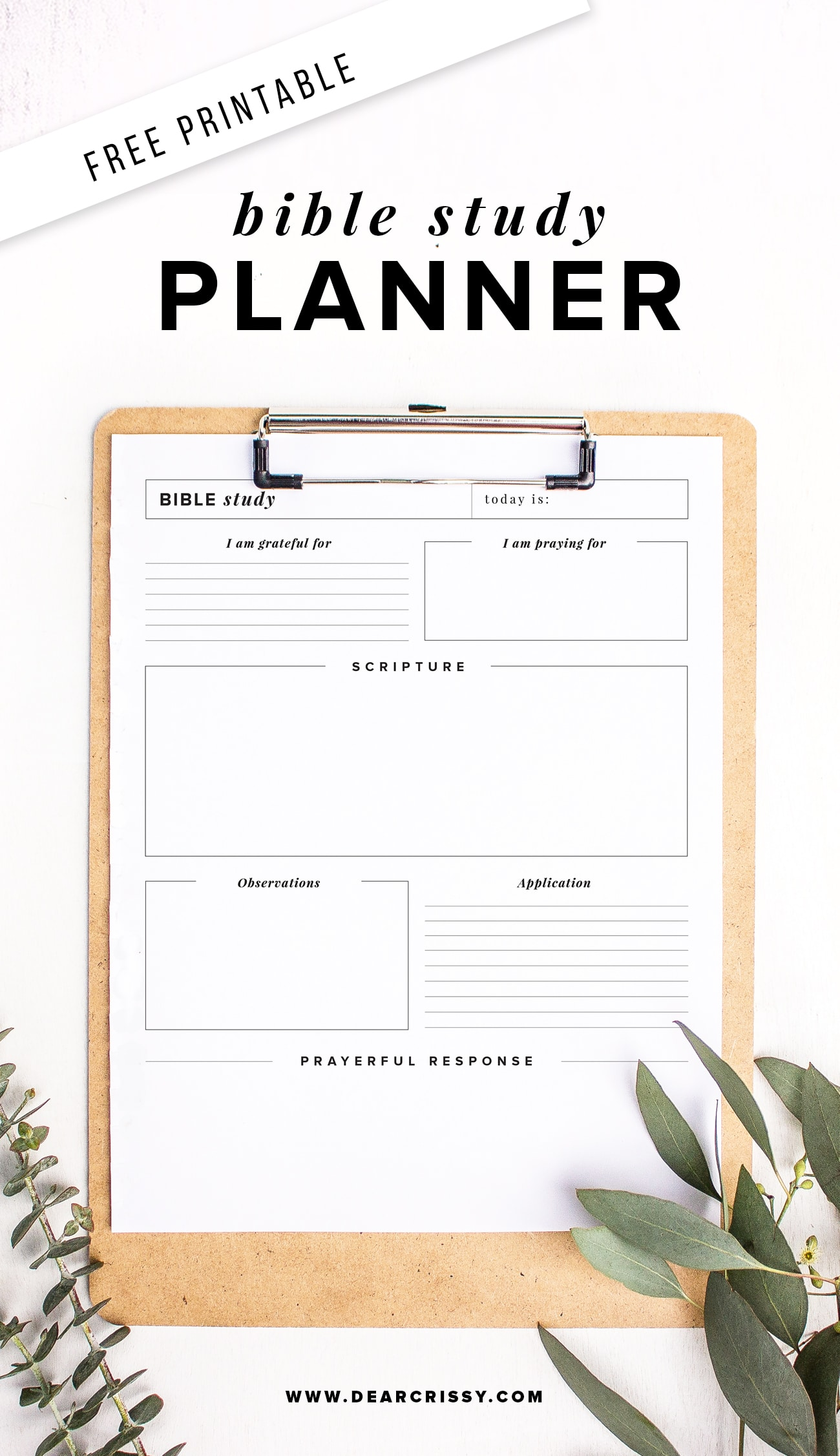 Free Printable Bible Study Planner S O A P Method Bible