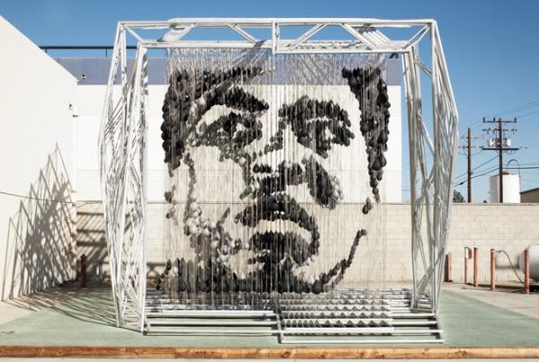 Escultura de Muhammad Ali, creada por Michael Kalish