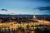 Sunset Turin view