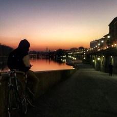 Sunset riverside