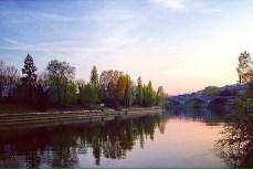 Po riverside in autumn