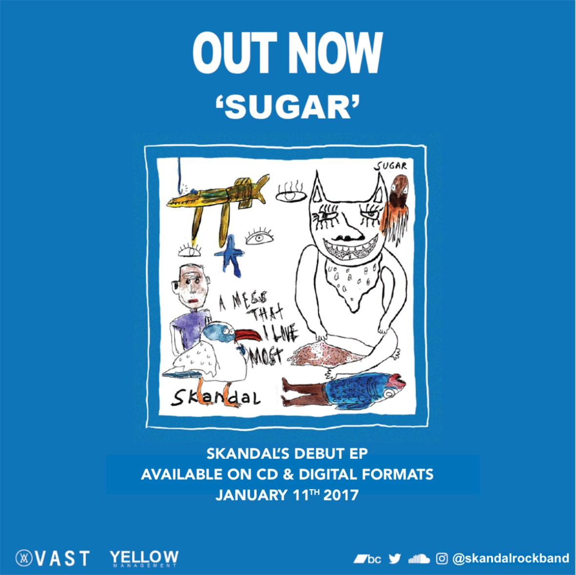 Skandal - Sugar EP (eFlyer Promo)