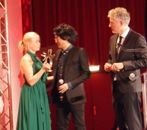 Emmanuelle Béart et le réalisateur Davy Chou © Anne-Sophie Rivereau