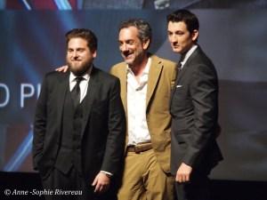 L'équipe du film: Jonah Hill, Todd Philipps et Miles Teller