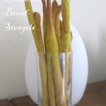 Saffraan en basilcum Soepstengels