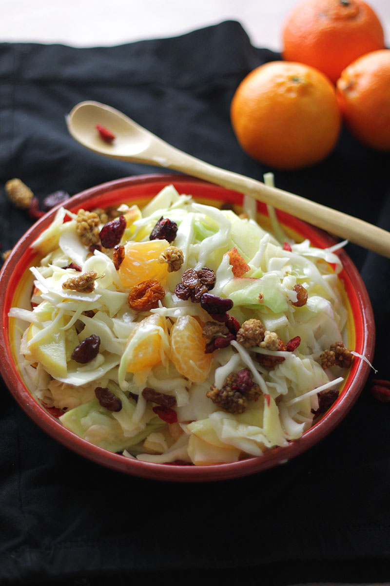Winterse Fruitige Koolsalade