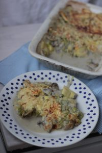 Romige Ravioli Prei Ovenschotel