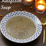 geroosterde knoflook soep
