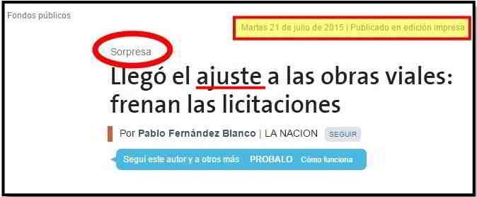 """¿La Nación contra el """"ajuste""""?"""
