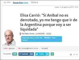 Entrevista en La Nación