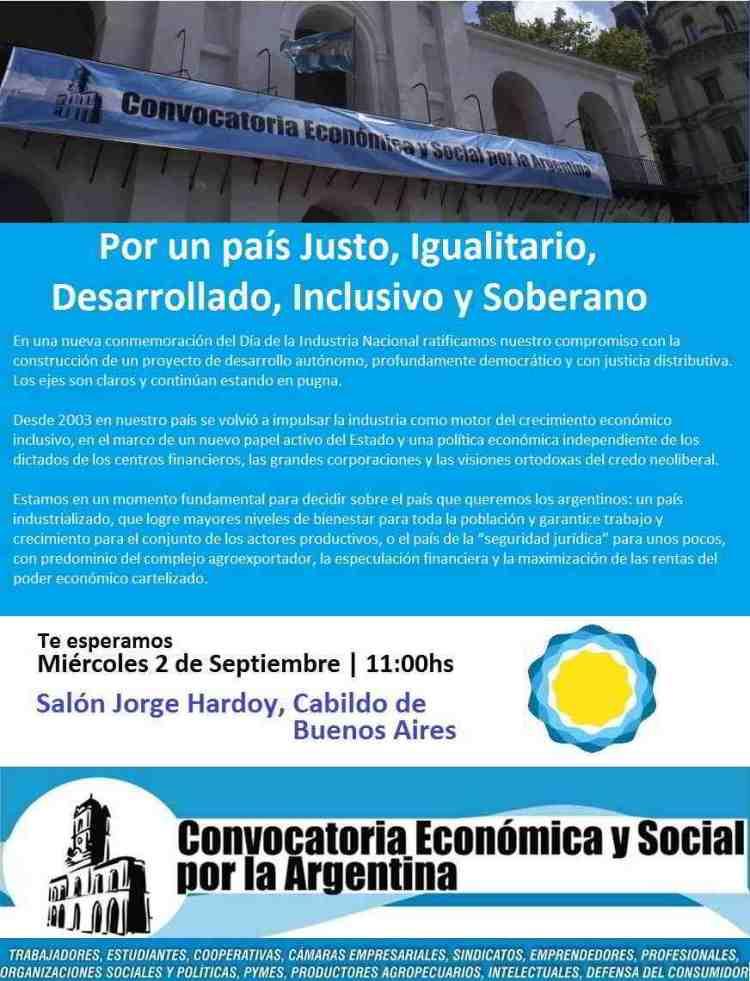 Convocatoria Económica y Social declaración