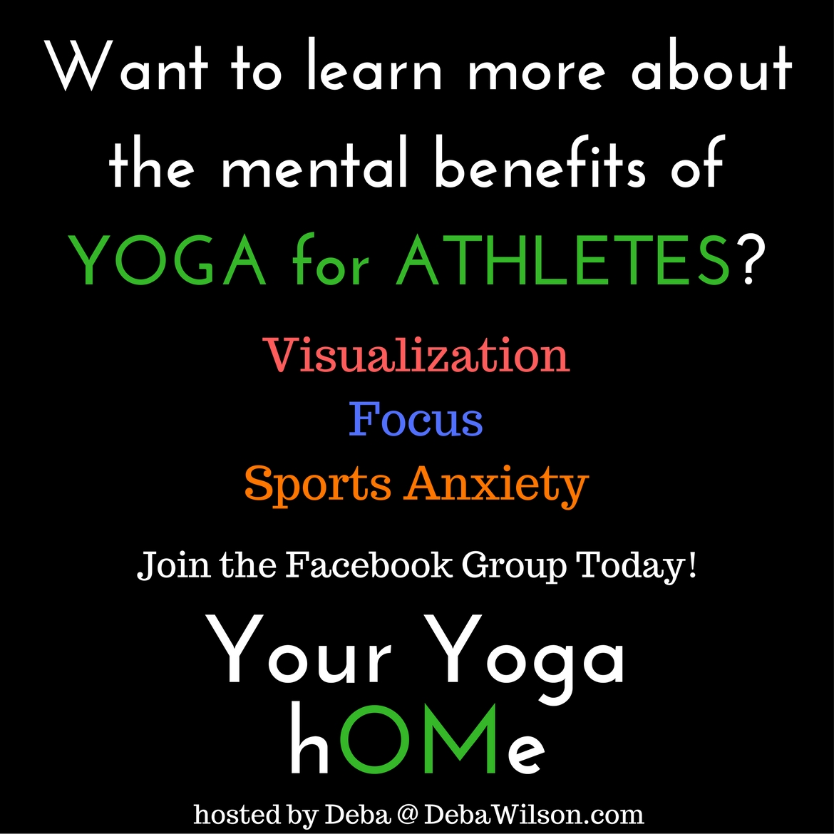 YOUR YOGA HOME Facebook Group for Sports Yoga