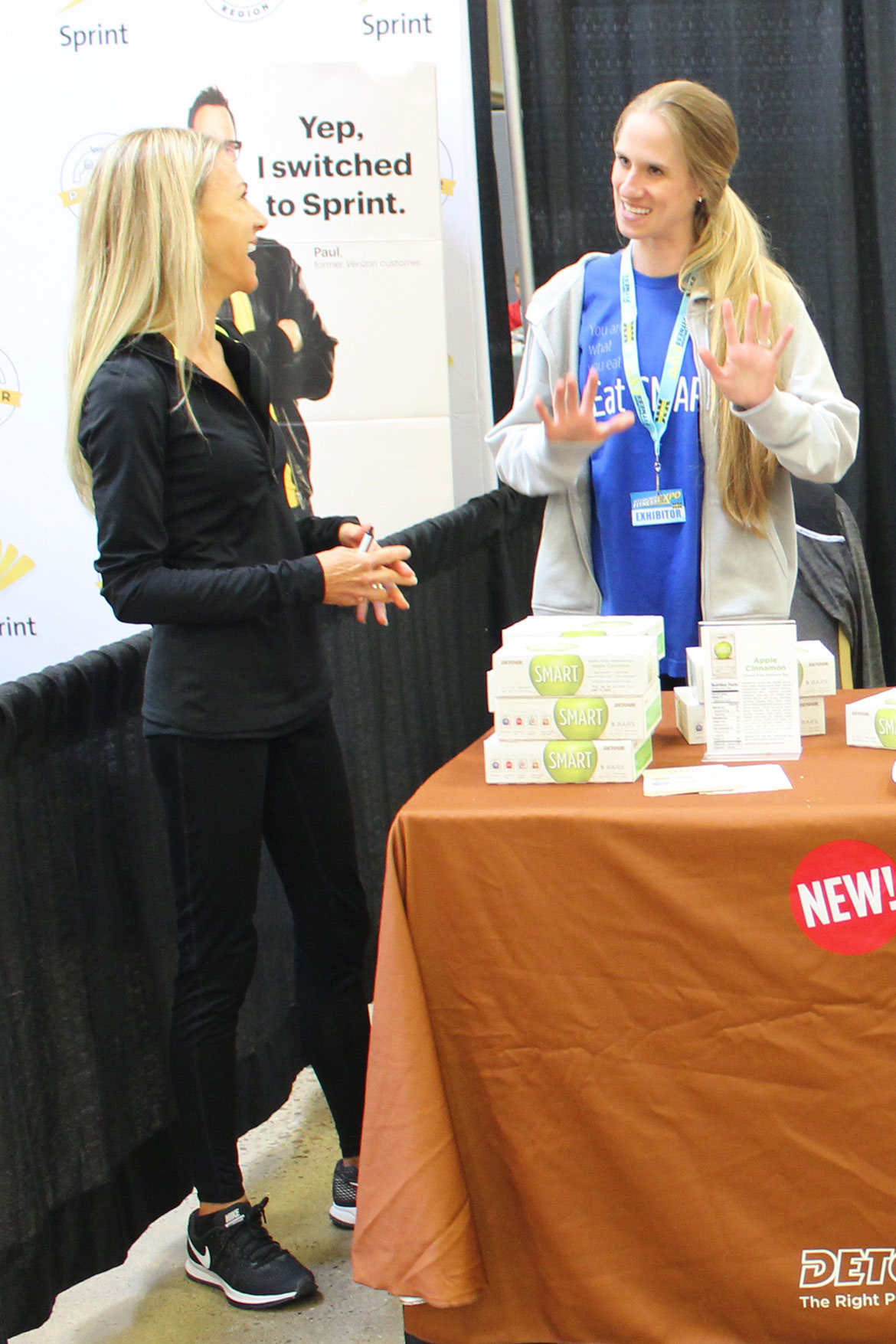 Fitness Experts at the Sprint and Detour SMART Bar Pavilions at a Health and Fitness Expo
